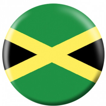 OTBB Jamaican Flag Bowling Ball front