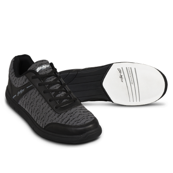 KR Strikeforce Flyer Men's Bowling Shoes Mesh Black/Steel setup