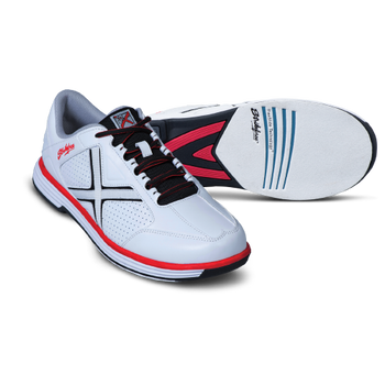 KR Strikeforce Men's Ranger Bowling Shoes White/Black/Red setup
