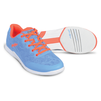 KR Strikeforce Womens Lace Bowling Shoes Sky/Coral setup