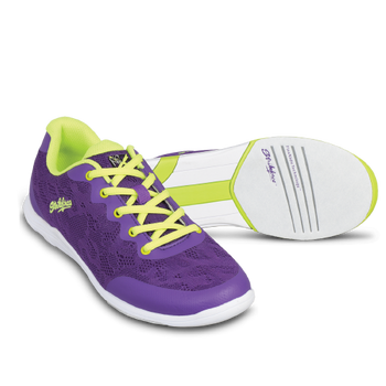 KR Strikeforce Womens Lace Bowling Shoes Purple/Yellow setup
