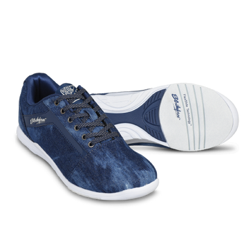 KR Strikeforce Womens Nova Lite Bowling Shoes Denim/Sparkle setup