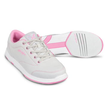 KR Strikeforce Womens Chill Bowling Shoes Light Grey/Pink setup