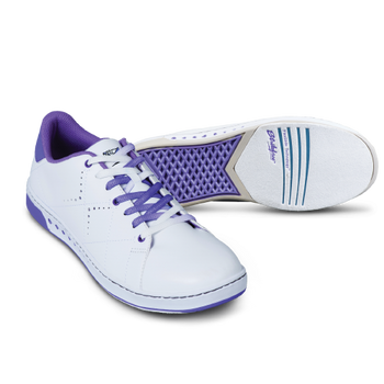 KR Strikeforce Womens Gem Bowling Shoes White/Purple setup