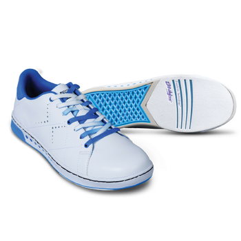 KR Strikeforce Girls Gem Bowling Shoes White/Blue setup