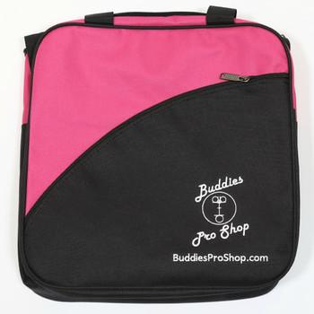 Buddies Pro Shop 1 Ball Tote Bowling Bag Pink Black
