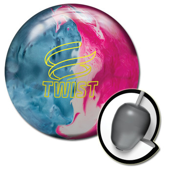 Brunswick Twist Bowling Ball Sky Blue/Pink/Snow and core