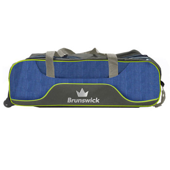 Brunswick Crown Deluxe Triple Tote - Navy/Lime
