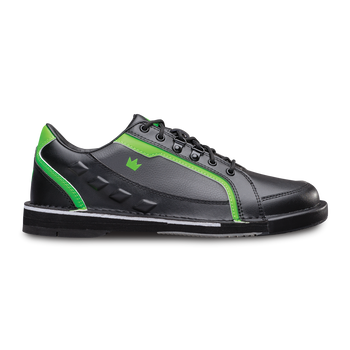 Brunswick Punisher Mens Bowling Shoes Black/Neon Green Left Handed