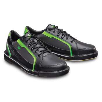 Brunswick Punisher Mens Bowling Shoes Black/Neon Green right