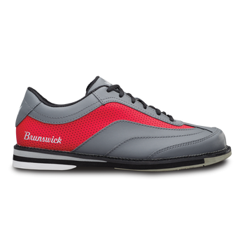 Brunswick Rampage Mens Bowling Shoes Grey/Red Left Handed