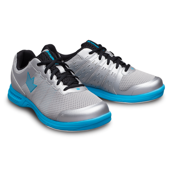 Brunswick Fuze Mens Bowling Shoes Silver/Sky Blue