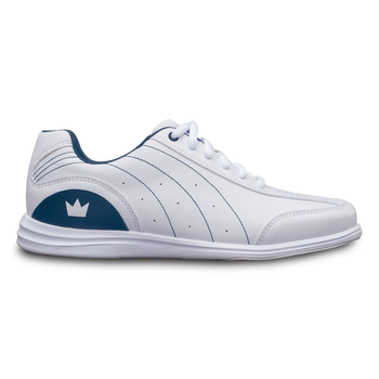 Brunswick Mystic Womens Bowling Shoes White/Navy Wide