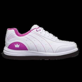Brunswick Mystic Womens Bowling Shoes White/Fuscia