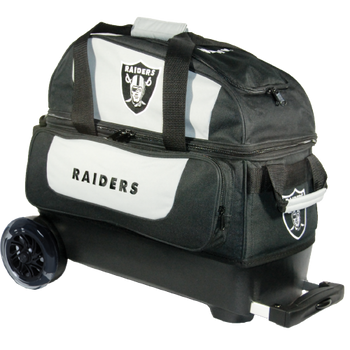 KR Strikeforce NFL Las Vegas Raiders 2 Ball Roller Bowling Bag