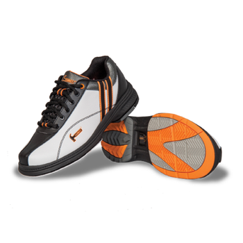 Hammer Vixen Womens Bowling Shoes White/Black/Orange Right Hand - pair of shoe featuring traction sole