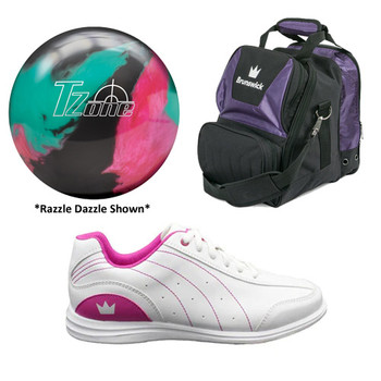 Brunswick Girls Target Zone Ball, Bag and Shoes Package