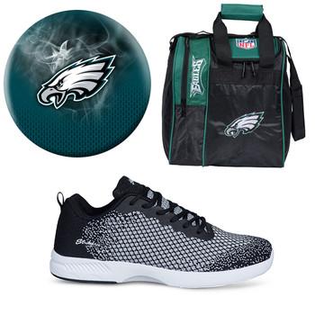 Philadelphia Eagles Ball, Bag and Shoes Mens Package