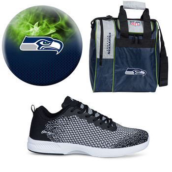 Seattle Seahawks Ball, Bag and Shoes Mens Package