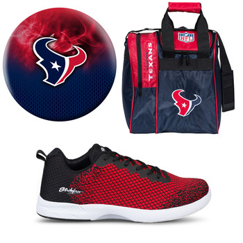 Houston Texans Ball, Bag and Shoes Mens Package