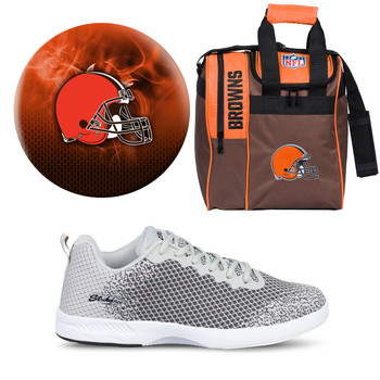 Cleveland Browns Ball, Bag and Shoes Mens Package