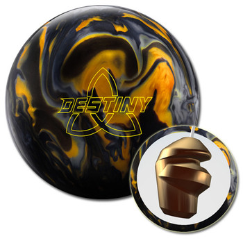 Ebonite Destiny Hybrid Bowling Ball and core