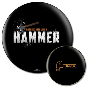 Hammer Tagline Bowling Ball front and back