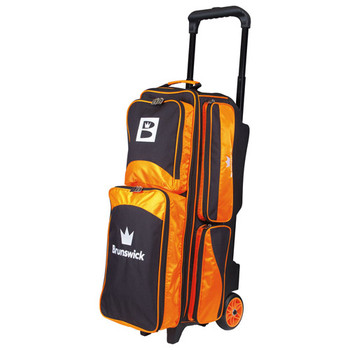 Brunswick Edge Triple Roller Bowling Bag - Orange