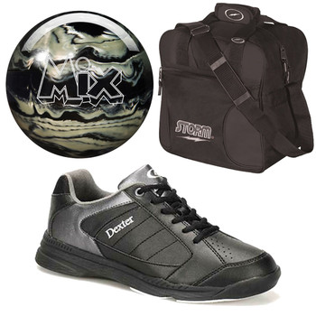 Storm Men's Mix Bowling Ball, Bag and Shoes Package