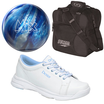 Storm Women's Mix Bowling Ball, Bag and Shoes Package