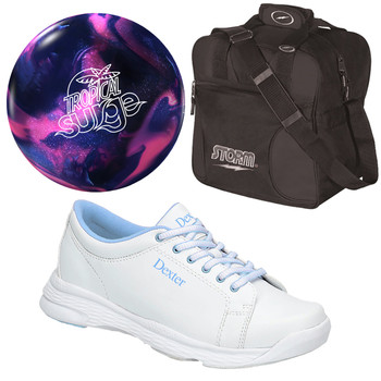 Storm Tropical Surge Bowling Ball, Bag and Women's Shoes Package