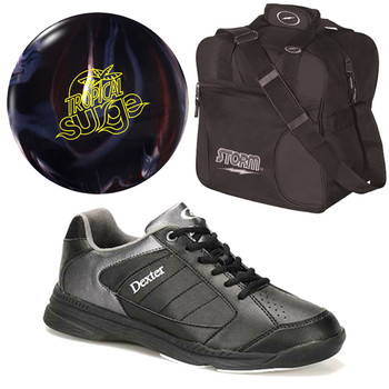 Storm Tropical Surge Bowling Ball, Bag and Men's Shoes Package