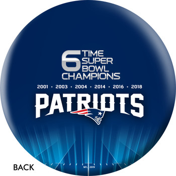 OTTB New England Patriots Bowling Ball Super Bowl 53 Champions back