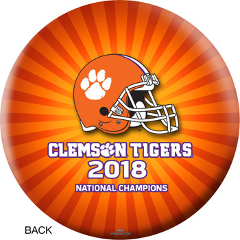 OTBB 2018 National Champions Clemson Tigers Bowling Ball back