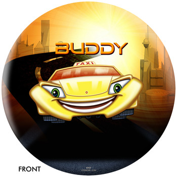OTBB Disney Cars' Buddy the Taxi Bowling Ball front