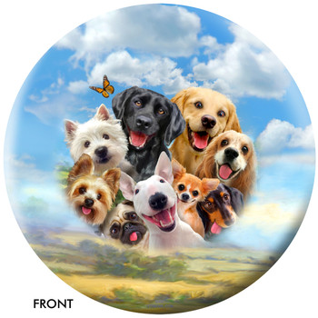 OTBB Dogs Selfie Bowling Ball front