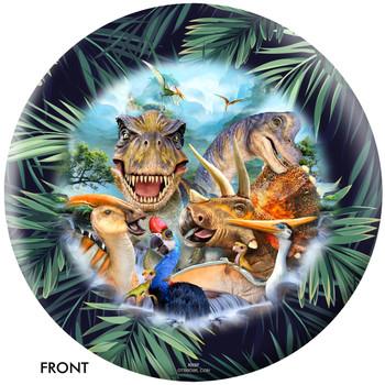 OTBB Dinosaurs Selfie Bowling Ball front
