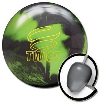 Brunswick Twist Bowling Ball Neon Green/Black and core