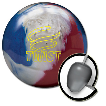 Brunswick Twist Bowling Ball Red/White/Blue and core