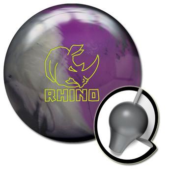 Brunswick Rhino Bowling Ball and Core - Charcoal/Silver/Violet