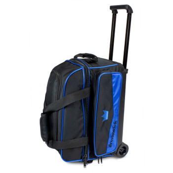 Brunswick Zone Double Roller Bowling Bag - Royal