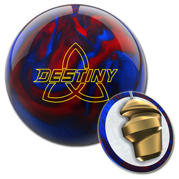 Ebonite Destiny Pearl Bowling Ball - Black/Red/Blue and Core