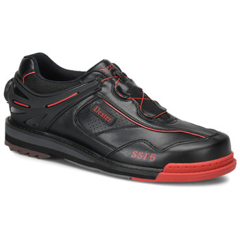 Dexter Mens SST 6 Hybrid Boa Bowling Shoes Black/Red Right Hand Wide Width