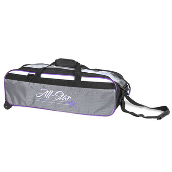 Roto Grip 3 Ball All-Star Edition Travel Tote - Black/White/Purple