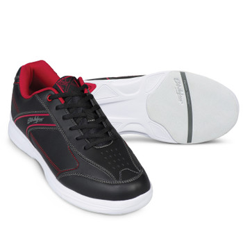 KR Strikeforce Flyer Lite Mens Bowling Shoes Black/Red setup