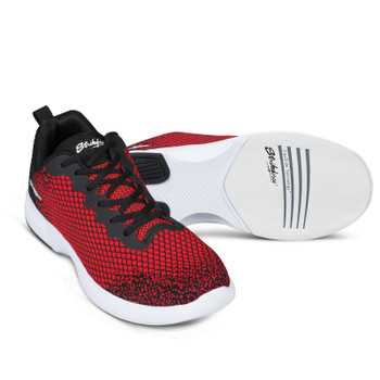 KR Strikeforce Aviator Mens Bowling Shoes Red/Black setup