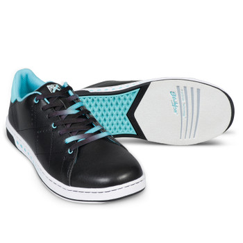 KR Strikeforce Womens Gem Bowling Shoes Black/Teal setup
