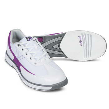 KR Strikeforce Womens Flex Bowling Shoes White/Grape setup
