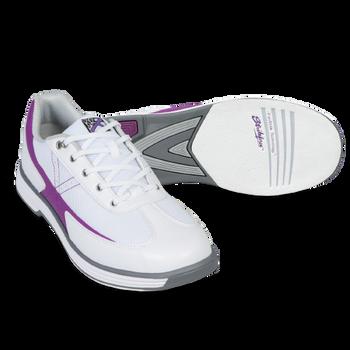 KR Strikeforce Womens Flex Bowling Shoes White/Grape setup