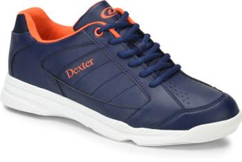 Dexter Ricky IV Mens Bowling Shoes Navy/Orange Trim WIDE